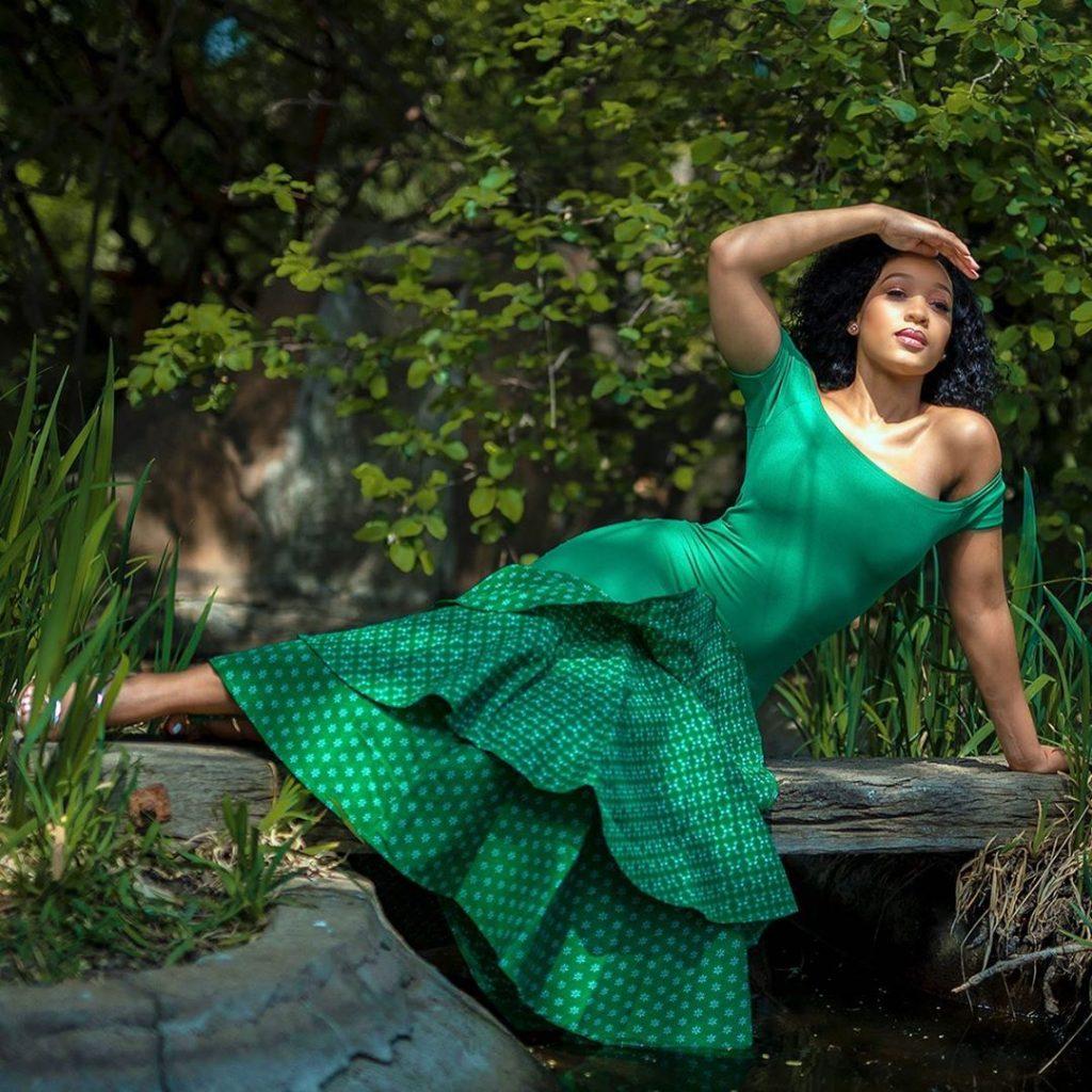 Green shweshwe wedding dresses
