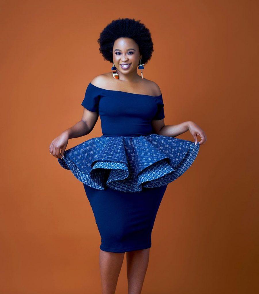 Shweshwe Dresses With Tulle